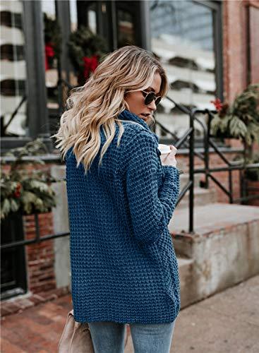2198887b92 Yidarton Women s Jumper Knitted Sweater Loose Turtleneck Solid Warm ...