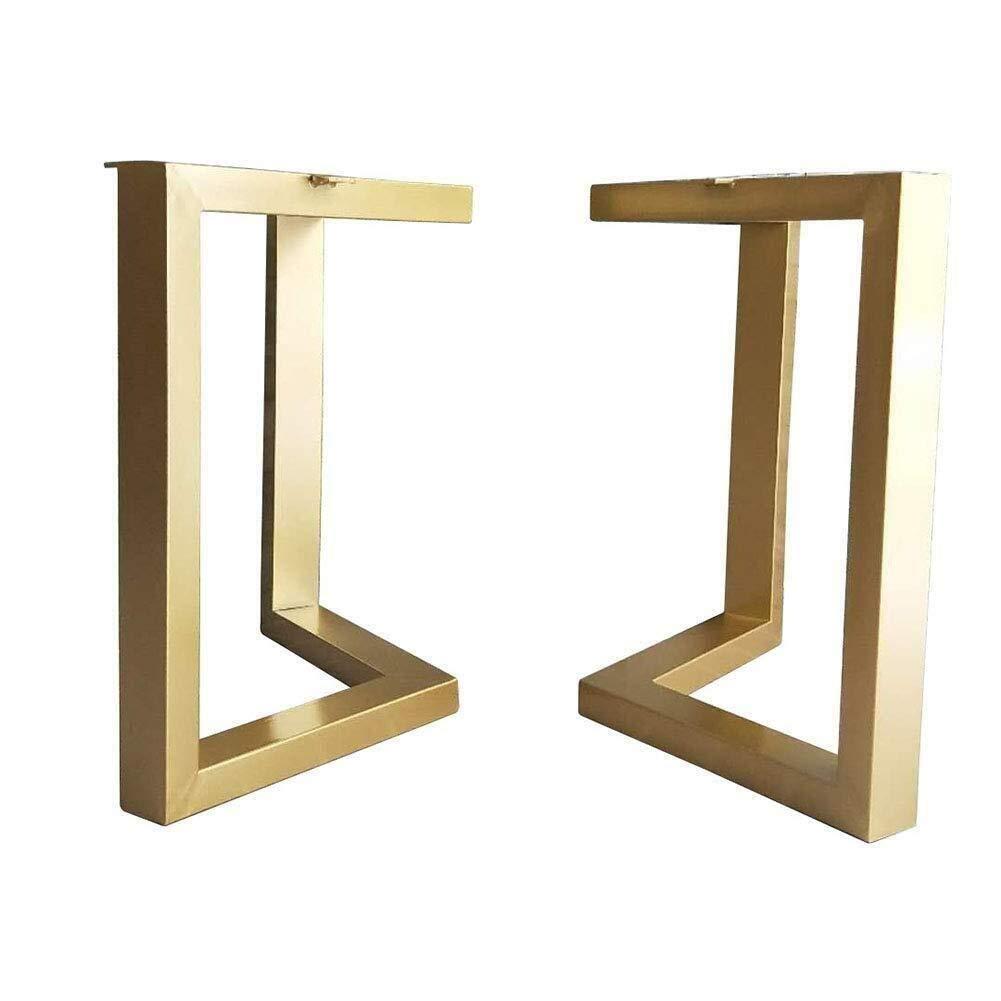 para Comedor 50 * 72CM Mesa de caf/é 2 Piezas Dorado-c, W*H Patas de Metal para Proteger el Suelo Hqqgwt Patas de Mesa Patas de Acero para Escritorio