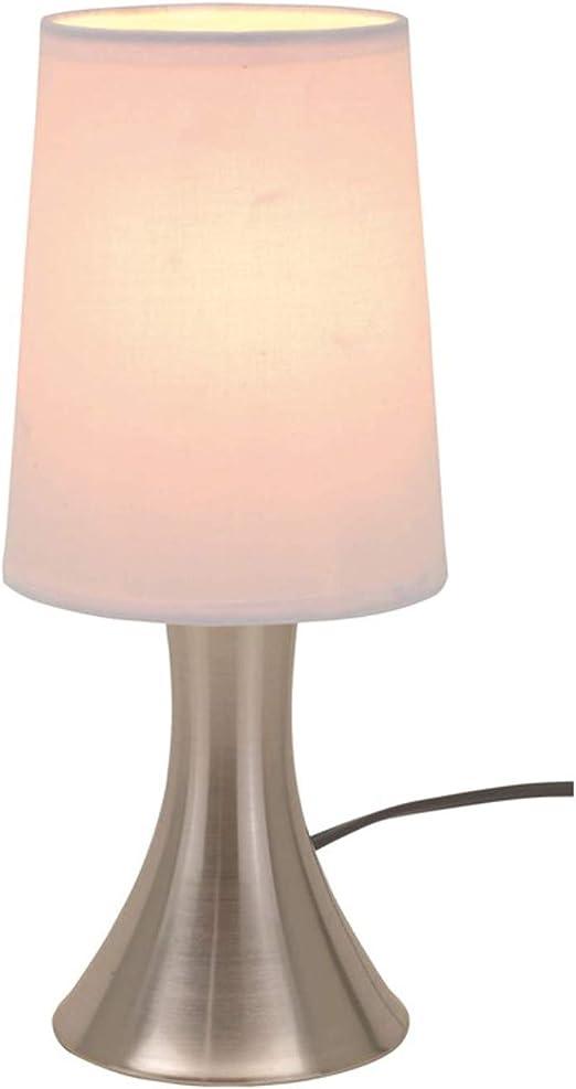Lot de 2 lampes de chevet avec variateur d'intensité réglable sur 3 positions par touche couleur argent