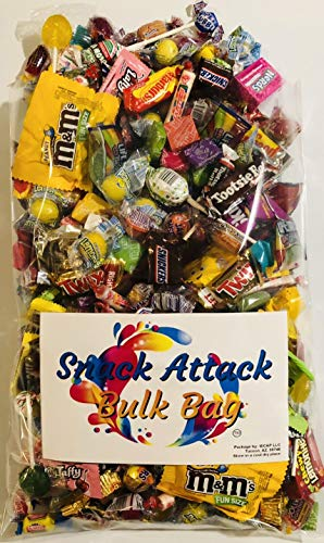 Assorted Candy Pinata Party Mix, 5 LB Bulk Bag: Skittles, Reeses, Life Savers, Nerds, Charms Blow Pop, Jaw Busters, Laffy Taffys, Twix, Snickers, Jolly Rancher, Tootsie Rolls, m&m's and Much More!]()