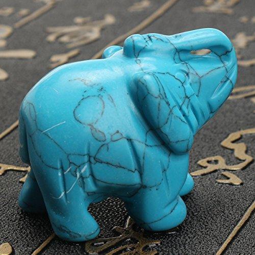 - Kangsanli Turquoise Elephant Statue 1.5
