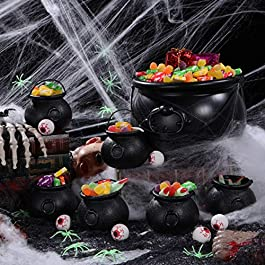 Halloween Kessel mit Griff Schwarzer Kessel