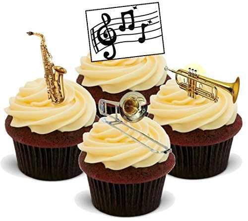 Edible Saxophone Cake Toppers