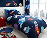 Gaveno Cavailia Outer Space Kids Children Design Luxurious Duvet Cover Sets Reversible Bedding Sets with Pillowcases/Fitted Bed Sheets GC (Single Duvet Set)