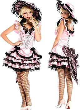 14ee6e94a2a Neuf femmes Rose avec liseré Noir détail Nœud élégante Robe de princesse Adulte  Costume enterrement danseuse