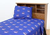 College Covers Boise State Broncos Printed Sheet Set Solid, Full