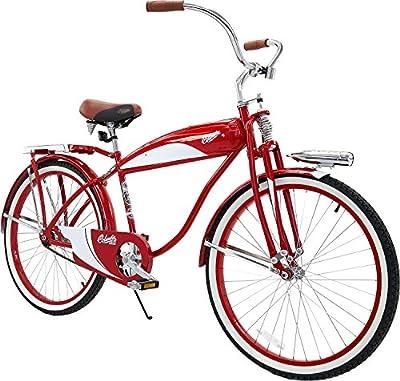 Columbia Adult 1952 Deluxe Beach Cruiser Bike (Red)