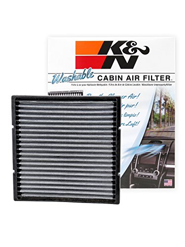 K&N VF2002 Washable & Reusable Cabin Air Filter Cleans and Freshens Incoming Air for your Subaru, Toyota,