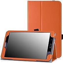 MoKo Samsung Galaxy Tab 4 8.0 Case - Slim Folding Cover Case for Samsung Galaxy Tab 4 8.0 Inch Tablet, ORANGE (With Smart Cover Auto Wake / Sleep. WILL NOT Fit Samsung Galaxy Tab 3 8.0)