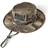 Sinddy Military Tactical Head Wear/boonie Hat Cap for Wargame,Sports,fishing &Outdoor Activties Acu Camouflage with USA Patch