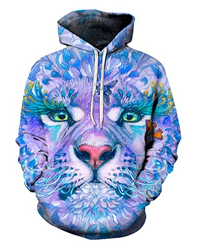 Flower Tiger Butterfly Hoodie 3D Sweatshirt Pullover Sweater Tracksuits Cool Design Streetwear Clothes Size 6XL