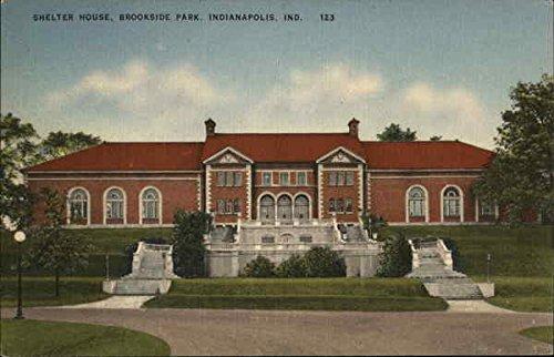 (Shelter House, Brookside Park Indianapolis, Indiana Original Vintage Postcard)