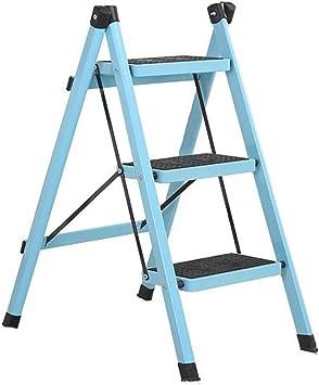 LIANG Escalera de Tres peldaños, Escalera de Hierro para Pedales de Escalada para Adultos, Escalera de Dos Pasos para el hogar Estante para Flores/Zapatero (Color : Azul): Amazon.es: Electrónica
