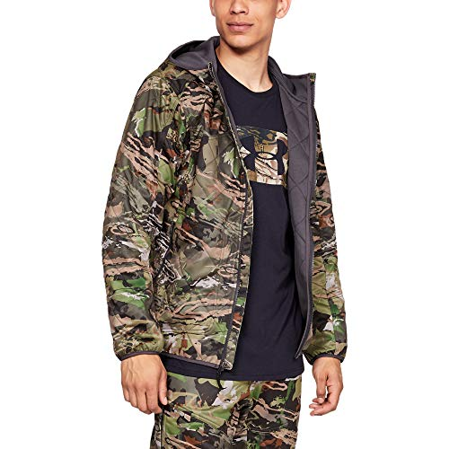 Under Armour Men's Brow Tine Hoodie, USA Forest Camo, Large (Camo Under Armour Jacket)