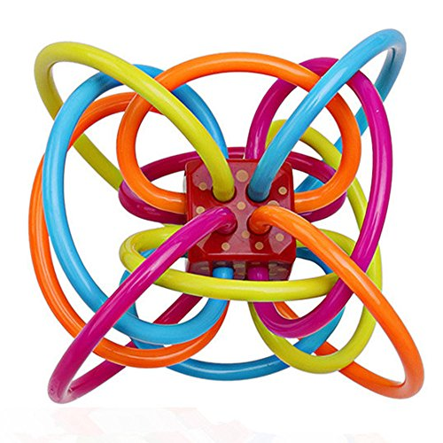 Baby teether teether teether Baby teether Baby Rattle Ball and Sensory Teether Toy (US Seller)