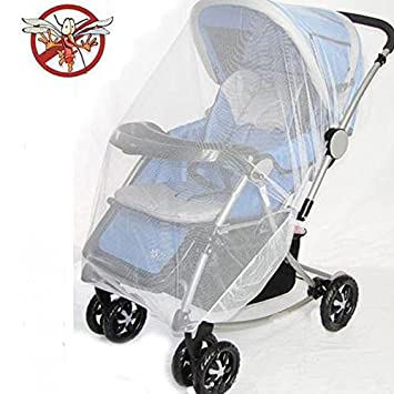 Universal Pram Stroller Pushchair Accessories White Mosquito Insect Net+Mesh Bag