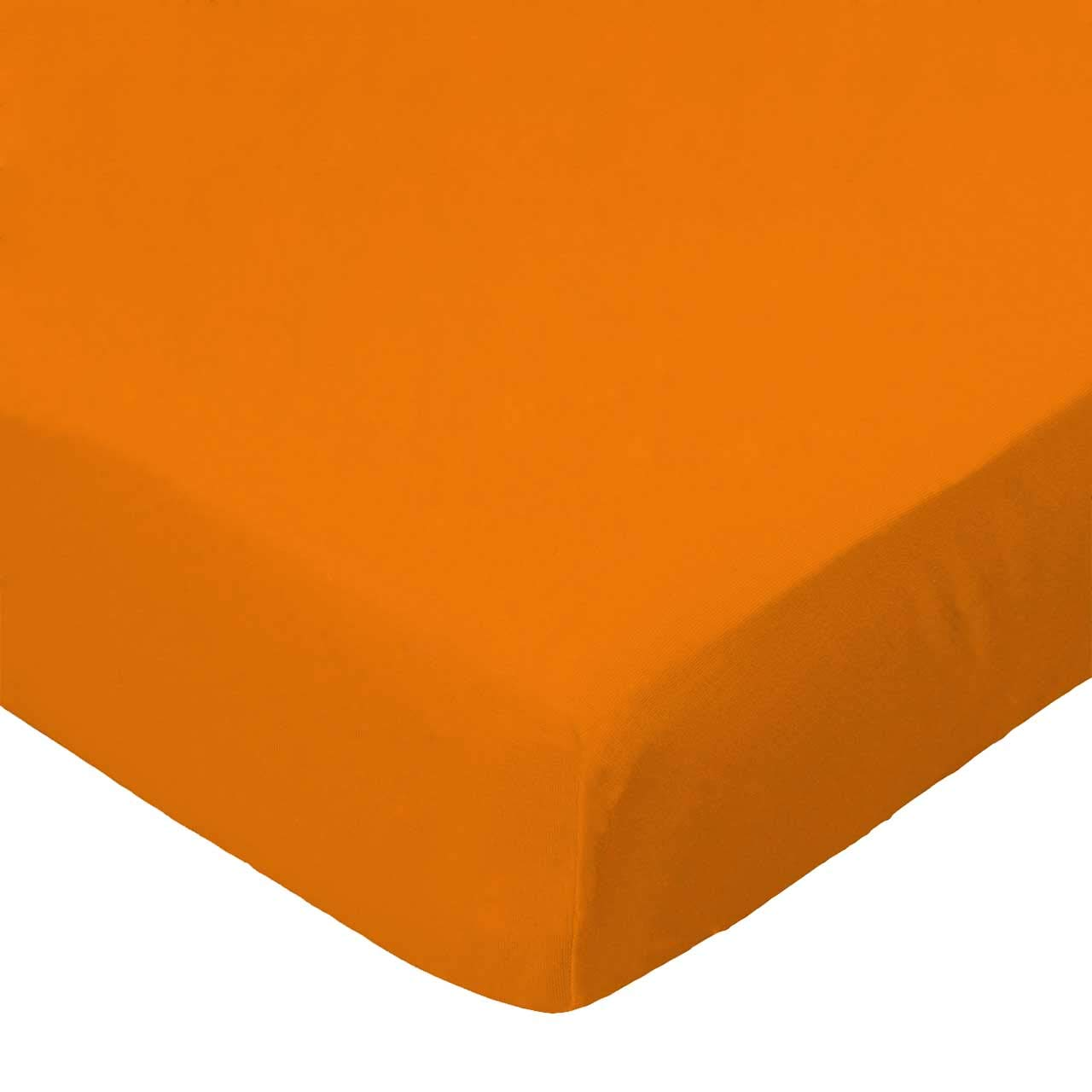 SheetWorld Fitted Crib / Toddler Sheet - Flannel - Orange - Made In USA by sheetworld   B004O8EAGY