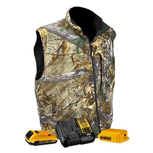Heated Nylon Vest - DEWALT DCHV085D1-XL Heated Realtree Xtra Camouglage Vest, XL, Camouflage