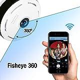 Anweer Home Security Camera,Wireless Surveillance Camera 360 Degree Panoramic Camera Fisheye WiFi Home Surveillance System (960P)