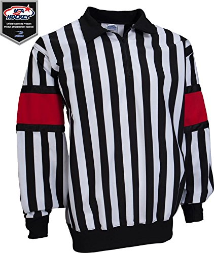 Force Pro Referee Jersey w/ Red Armbands [MENS] (Referee Pro Jersey Hockey)