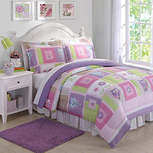 Laura Hart Kids Comforter Set (Happy Owls, (Butterfly Comforter Queen)