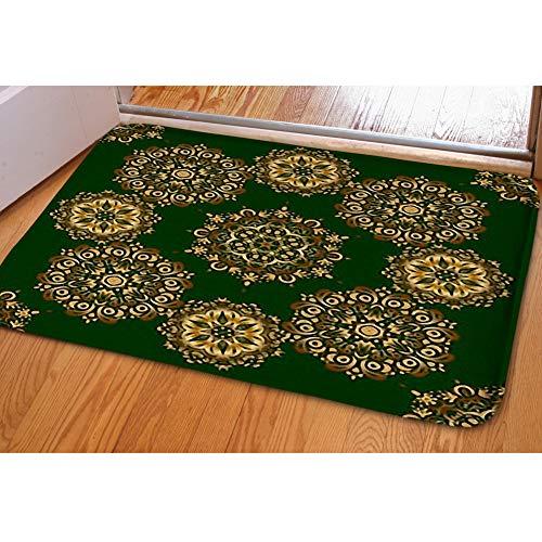 iBathRugs Door Mat Indoor Area Rugs Living Room Carpets Home Decor Rug Bedroom Floor Mats,Vintage Golden Scrolls Ornate Decor