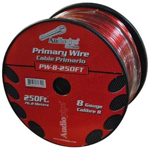 Audiopipe 250' 8 Gauge Red Power Wire by Nippon