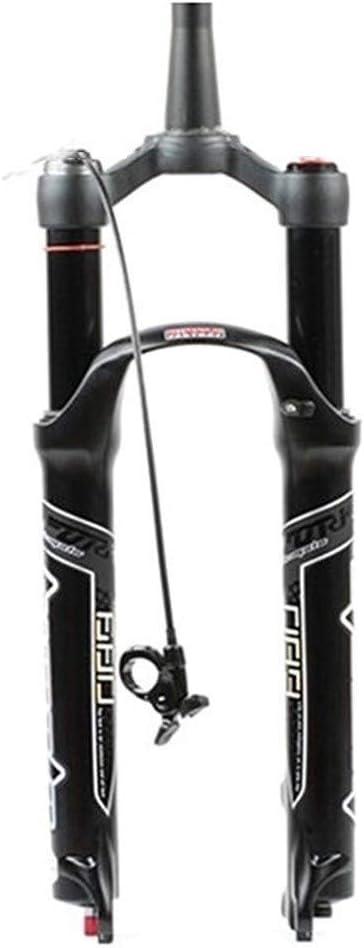 LSRRYD MTB Horquilla Delantera Bicicleta 26 27.5 29 Pulgadas Amortiguador Aire Horquilla Suspensión Bicicleta Bloqueo Remoto Recorrido 120mm QR 9mm: Amazon.es: Deportes y aire libre