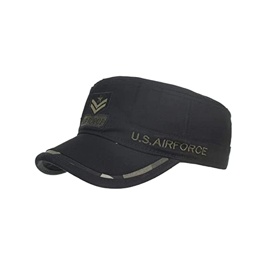 17ddf0ebc Amazon.com: Sunyastor Washed Military Caps Cadet Army Caps Unique ...