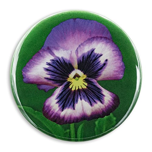 Purple Pansy Photo Print, 2.25 Inch Pocket Mirror, Refrigerator Magnet or Pinback Button