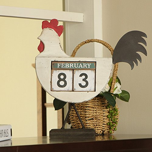 The cocks creative calendar ornaments home bedroom furnished with American retro displayed so the old decorations by TDLC (Image #2)