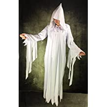 """Lady White Ghost Costume , Halloween , Witch , Ghostly Spirit , One Size to 72"""""""