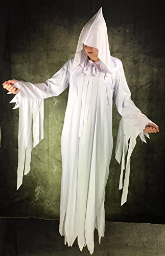 Rubber Johnnies International Lady White Ghost Costume , Halloween , Witch , Ghostly Spirit , One Size to 72