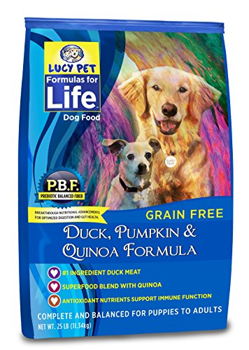 Lucy Pet Formulas for Life Duck, Pumpkin & Quinoa Dog Food, 25 LB by Lucy Pet Products
