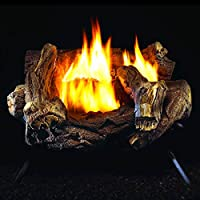 ProCom WZL24MVA Yellow Flame Vent-Free Gas Log Heater Set