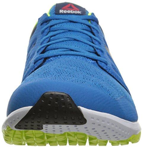 Reebok Para Hombre Zprint 3d Running Instinct Azul / Colegiado Azul Marino / Solar Amarillo / Peltre