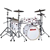 ddrum HYBRID 6 WHT Shell Pack Kit with Triggers, White Wrap Finish