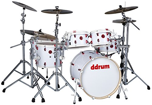 ddrum Hybrid 6 Shell Pack Kit with Triggers-White Wrap Finish WHT