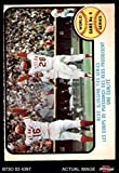 1973 O-Pee-Chee # 208 1972 World Series - Game #6 - Reds' Slugging Ties Series Johnny Bench / Denis Menke / Bobby Tolan Oakland / Cincinnati Athletics / Reds (Baseball Card) Dean's Cards 4 - VG/EX Athletics / Reds