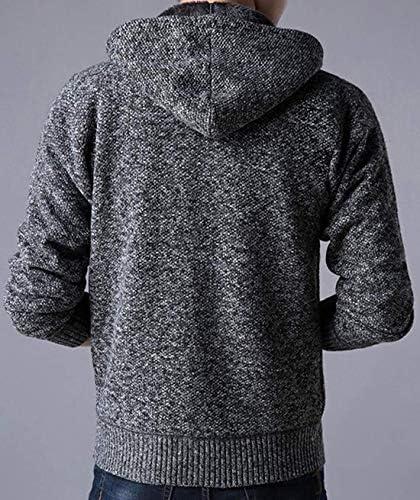 メンズ セーター 厚手 裏起毛 防寒 ケーブル編み ジャケット 長袖 カーディガン ビジネス カジュアル ニット 秋冬