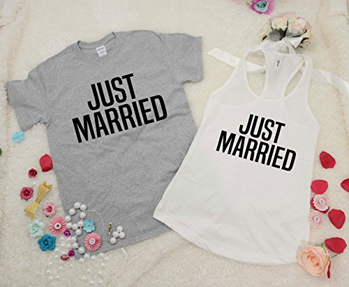 Just Married Shirt Set, Hubby Wifey Shirt Set, Hubby Shirt, Wifey Shirt, Wifey Hubby, Mr and Mrs Shirt, Newlywed Shirts, Just Married Shirts (Set Wed)