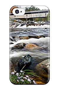 Durable Protector Case Cover With Ammonoosuc River In New Hampshire Hot Design For Iphone 4/4s wangjiang maoyi