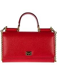 Dolce&Gabbana women's leather clutch with shoulder strap handbag bag purse dauph