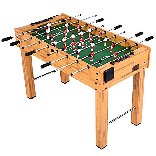 Harvard Game Table - Goplus Foosball Table Soccer Game Table Competition Sized Football Arcade for Indoor Game Room Sport (Burlywood 48