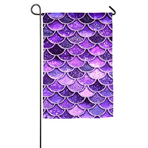 Yongchuang Feng Purple Mermaid Scale Garden Flag Demonstrations Flag Family Party Match Flag Yard Decorative Flag