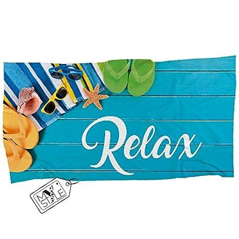 My Custom Style® Toalla de Playa en Microfibra #Relax 160x80cm: Amazon.es: Hogar