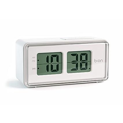 Balvi B:ON - Flip Despertador Digital de Tipo Flip. Pantalla de LCD,