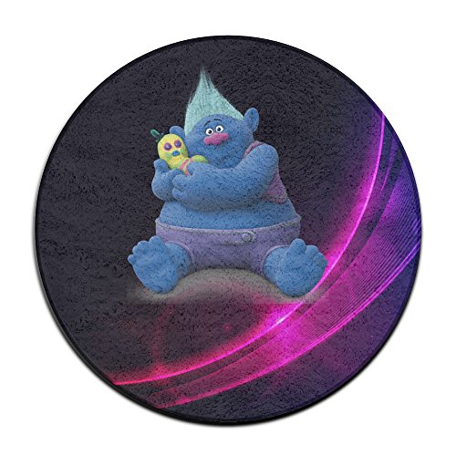 Trolls Round Kids Rugs  2 Feet