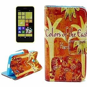 Pattern Case Funda con tapa Cover Card Holder & Slots & Wallet para Nokia Lumia 630