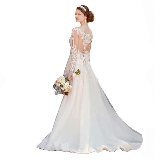 Dingdingmail V Neck Vintage Wedding Dresses For Bride Ball
